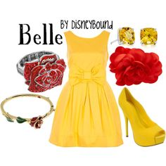 Disneybound - Belle outfit (Beauty and the Beast) Belle Inspired Outfits, Disney Inspired Fashion, Character Inspired Outfits, Disney Fashion, Disney Themed Outfits, Disney Bound Outfits, Disney Dresses, Disney Clothes, Prom Dresses