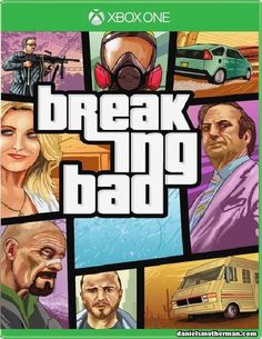 Breaking Bad Funny Game Poster Grand Theft Auto GTA Xbox One Humor