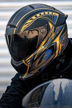 Anime Motorcycle, Motorcycle Helmet Design, Biker Helmets, Blue Motorcycle, Star Wars Helmet, Predator Helmet, Smoke Pictures, Helmet Paint, Armor Concept