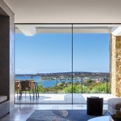 With the most amazing views of Hermit Bay with Sydney Harbour beyond, the large-scale minimalist sliding doors specified by Smith & Tzannes were the perfect Interior Design Singapore, Windows And Doors, Sliding Doors, Facade, Minimalist, Australia, Gallery, Projects, Decorating