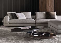 RAYMOND - Designer Coffee tables from Minotti ✓ all information ✓ high-resolution images ✓ CADs ✓ catalogues ✓ contact information ✓ find your. Center Table Living Room, Living Room Sofa, Living Spaces, Home Interior, Luxury Interior, Interior Design, Parisian Chic Decor, Sofa Furniture, Furniture Design