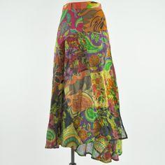 Groovy Garden Patch Wrap Skirt