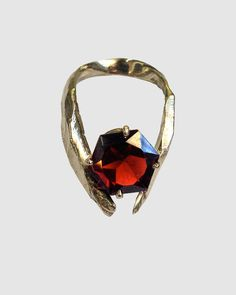 stunning. Sterling silver cast with octagonal garnet. Comes in sterling silver, 18k gold vermeil, and rose gold vermeil.