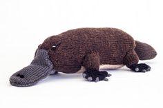 KNITTING PATTERN, Toy Knitting Pattern, Australian Platypus, Wildlife Toy, Soft Toy, Knitted Softie Pattern, PDF, Instant Download