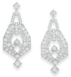 Art Deco Earrings    1925    Christie's
