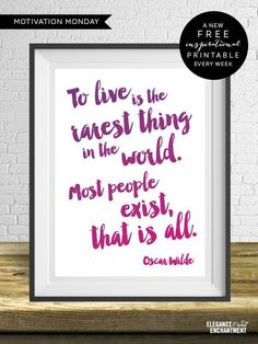 Oscar Wilde Printable Art - Free download from Elegance & Enchantment for one week only!