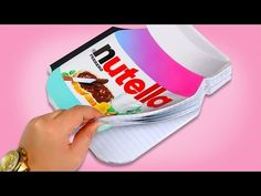 HOW TO MAKE A NUTELLA NOTEBOOK ♥ DIY - YouTube