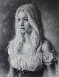 Portrait of beauty girl in a beautiful dress. 2015 http://cathleentarawhiti.deviantart.com/