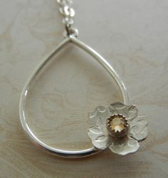 Floral Charm Necklace by megangillis on Etsy, $28.00