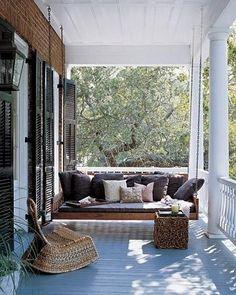 Porch swing.