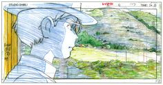 Original animation layouts from the Hayao Miyazaki film The Wind Rises (風立ちぬ).