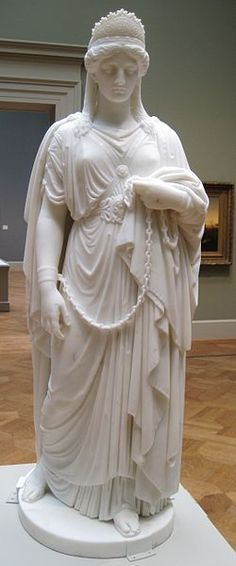 Zenobia in Chains by Harriet Goodhue Hosmer (1859) marble, St. Louis Art Museum