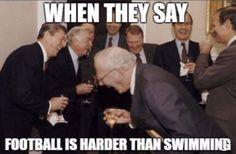 😆 football vs swimming