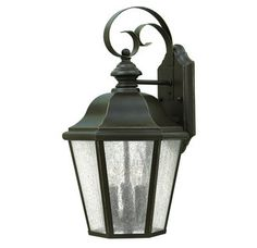 """View the Hinkley Lighting 1676 3 Light 17.5"""" Height Outdoor Lantern Wall Sconce from the Edgewater Collection at LightingDirect.com."""