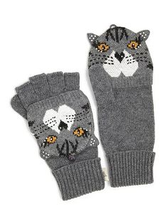 Cat gloves by Yumi @ Aspire Style. Crazy Cat Lady, Crazy Cats, Diamond Bar, Vintage Inspired Dresses, Cat Face, Unique Vintage, Gloves, Fancy, Clothes For Women