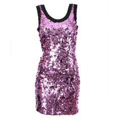 D Purple Sequinned Dress ($315) ❤ liked on Polyvore
