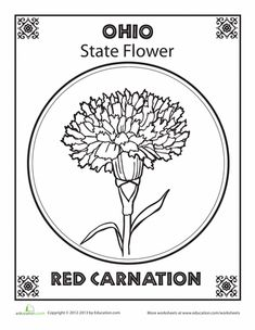 Ohio Coloring Page From Crayola Has All The States