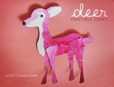 { Printable Deer Craft }