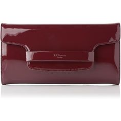 L.K. Bennett Laura Truffle Patent Clutch ($260) ❤ liked on Polyvore featuring bags, handbags, clutches, red patent leather purse, red clutches, special occasion clutches, cocktail purse and red patent handbag