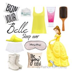 Belle - Sleep over by fashion-from-disney on Polyvore featuring polyvore, fashion, style, Anna & Boy, Skin, Accessorize, Australia Luxe Collective, Weleda, Nuxe, Aveda, Mary Green, Disney and clothing