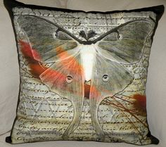 P Moth Decorator Pillow Cover - BUTTERF...