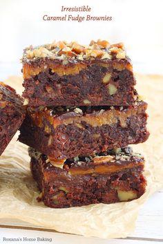 Irresistible caramel fudge brownies