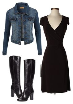 """""""Monica Geller Last Episode"""" by ibelezair on Polyvore featuring Laundry by Shelli Segal, LE3NO and Brooks Brothers"""