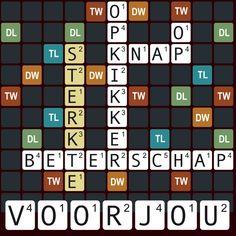 Leuke Woordspel Beterschapskaart, verkrijgbaar bij #kaartje2go voor € 1,99