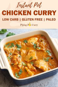 Mom's Instant Pot Chicken Curry - Mom's authentic Instant Pot Chicken Curry recipe made in a simple onion-tomato gravy with the aroma of whole spices. So quick and delicious, ready in 30 mins. This is the best Chicken Curry you will ever have! Instant Pot Pressure Cooker, Pressure Cooker Recipes, Indian Food Recipes, Ethnic Recipes, Indian Chicken Recipes, Cooking Recipes, Healthy Recipes, Aryuvedic Recipes, Cooking Chef