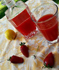 Bevanda alla fragola e limone