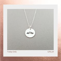 Today Only! 12% OFF this item.  Follow us on Pinterest to be the first to see our exciting Daily Deals. Today's Product: Sale -  Heartbeat Necklace - Handstamped Disc Necklace - Sterling Silver Tiny Necklace - Dainty Necklace - Simple Jewelry - Gift For Her Buy now: https://www.etsy.com/listing/465536458?utm_source=Pinterest&utm_medium=Orangetwig_Marketing&utm_campaign=Daily%20Deal #etsy #etsyseller #etsyshop #etsylove #etsyfinds #etsygifts #musthave #loveit #instacool #shop #shopping…
