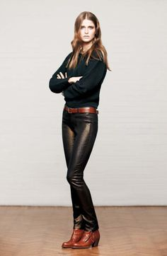 Leather pants leather boots