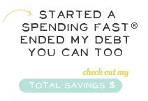And then she saved..awesome blog site about how to end your debt and overspending..really worth reading!