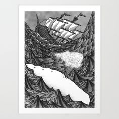 paintings or prints of moby dick | GRZNYC: Moby Dick