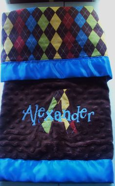 Pretty embroidered blankets- great for baby shower gifts!