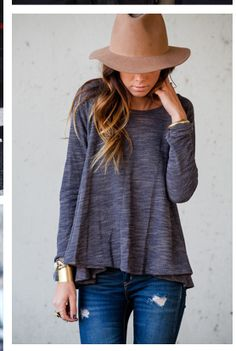 hat, jeans