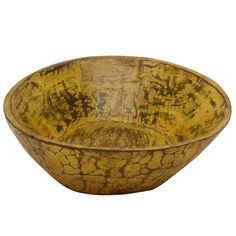Wooden Parat Bowl Small, Yellow
