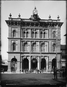 Historic photo of Sydney's General post office (From the collections of the Powerhouse Museum of Sydney) General Post Office, Australian Photography, Sightseeing Bus, Sydney City, Central Business District, Historical Photos, Old Town, Old Photos, Tours