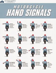 UK hand signals for two wheeled vehicles
