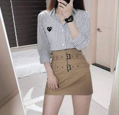 Skirt Outfits Cute Teen Fashion 65 Ideas For 2019 Korean Girl Fashion, Korean Fashion Trends, Ulzzang Fashion, Korean Street Fashion, Korea Fashion, Asian Fashion, Teen Fashion, Classy Fashion, Hipster Fashion
