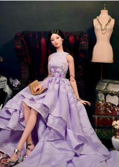 6 Different style Fashion Royalty Wedding Clothes//Dress//Gown For 11.5in.Doll S18