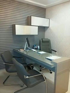 Office Cabin Design, Open Office Design, Medical Office Design, Office Furniture Design, Office Interior Design, Office Interiors, Home Office Layouts, Home Office Setup, U Shaped Office Desk
