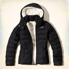 Girls Hollister Sherpa Lined Puffer Jacket | Girls Jackets & Coats | HollisterCo.com