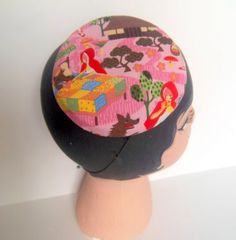 Little Red Riding Hood Cocktail Hat Button Beret by ChefBizzaro, $50.00