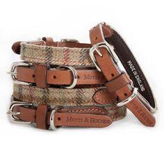 Balmoral Tweed and Leather Dog Collar , £42.00