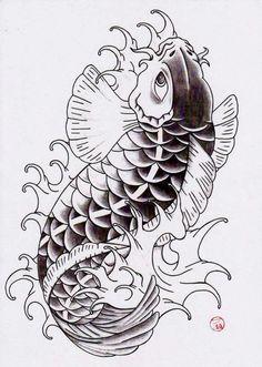 Desenhos para tattoo e tatuagem mais top do mundo ,: татуировка с мелкими штрихами R Tattoo, Leg Tattoos, Tattoo Drawings, Tattoos For Guys, Koi Tattoo Design, Tattoo Designs Men, Traditional Japanese Tattoo Designs, Wizard Drawings, House Of Ink
