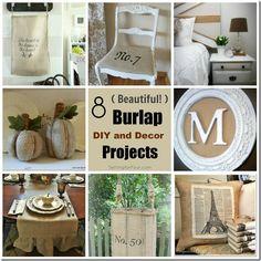 8 Burlap DIY and Decor Projects www.settingforfour.com