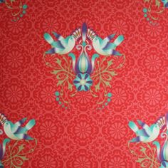 Would love this wallpaper  in a little girls room -   catalina estrada pio designbehang red
