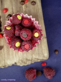 Chocolate stuffed rasberries