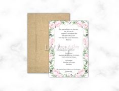 Floral Wedding Invitations, Holiday, Vacations, Holidays, Vacation, Annual Leave